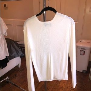 large white long sleeve tee